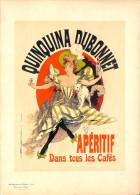 J-CHERET - Lithographie - 39,5x28 (imprimerie Chaix) Fin 19ème  -Quinquina Dubonnet -apéritif Dans Tous Les Cafés - Lithografieën