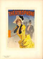 J-CHERET - Lithographie - 39,5x28 (imprimerie Chaix) Fin 19ème  - Theatrophone -port Gratuit - Lithografieën