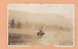 Rodeo, Pryor Bates, 1922, Saddle Bronc, Stampede  WILLIAMS LAKE, BC, CARIBOO, BRITISH COLUMBIA, Postcard, CANADA, Post - Other