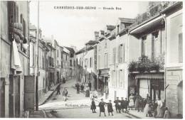 78  CARRIERES  Sur SEINE   Grande Rue - Carrières-sur-Seine