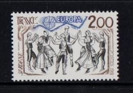FRANCE 1981 Un Timbre (1) YT N° 2139** Europa Folklore La Sardane Pays Catalans Danses Traditionnelles - France