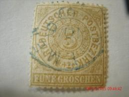 NORTH GERMAN CONFEDERATION, SCOTT# 18, 5 Gr BISTER,USED - North German Conf.
