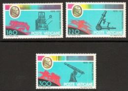 Vatican City 1979 Death Centenary Angelo Secchi Astronomer Telescope Spectrum Astrology Stamps MNH SG#719-721 SC#654-656 - Astrology