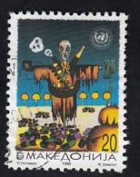 MACEDONIA, 1996,  MICHEL 68, UNITED NATIONS FIGHT AGAINST DRUGS / SKELETON MEDICINE ** - Ski