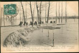 Crue Du Cher 21-31 Janv 1910  - Pont Sur Le Filet Submergé... - Tours