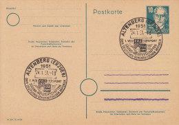 ALTENBERG  (Erzgeb) -  Glasklarer SONDERSTEMPEL - Auf GA P 35/03 - 1951 - - DDR