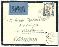 Luftpost Trauerbrief  Südafrika - Schaffhausen             1933 - África Del Sur (...-1961)