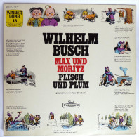 RARE Disque Vinyle 33T WILHELM BUSCH MAX UND MORITZ PLISCH UND PLUM - INTERCORD 285700 Y 1973 - Disques & CD