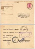 1974 Italia Intero 100* CP £40 Vg S. Elpidio USO A.R. Avviso Ricevimento - Stamped Stationery