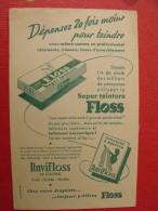 Buvard Teinture Floss. Ravifloss.  Vers 1950. - Buvards, Protège-cahiers Illustrés