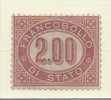 Italia - 1875 - Servizio - Nuovo/new - Cifra - Sass. N. 6 - 1861-78 Vittorio Emanuele II