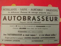 Buvard Boisson Autobrasseur. Lamendin-lefebvre. Lens.  Vers 1950. - Buvards, Protège-cahiers Illustrés