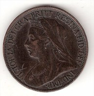 *great Britain  Farthing 1897  Km 788.2 1,80 Grams  Xf - 1816-1901 : 19th C. Minting
