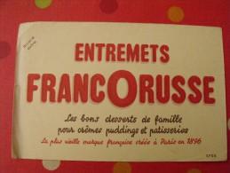 Buvard Entremets Francorusse.  Vers 1950. - Buvards, Protège-cahiers Illustrés