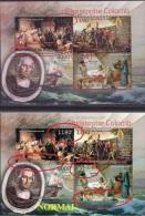 V] 1 Feuillet 1 Sheet ** Burundi Christophe Colomb Christopher Colombus Couleur Blanche Manquante Missing White Colour - 2010-..: Neufs