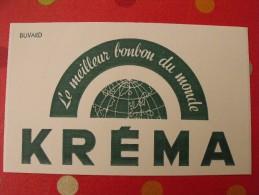 Buvard Bonbons Kréma.  Vers 1950. - Buvards, Protège-cahiers Illustrés