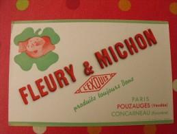 Buvard Fleury & Michon. Pouzauges (vendée). Concarneau (finistère).  Vers 1950. - Buvards, Protège-cahiers Illustrés