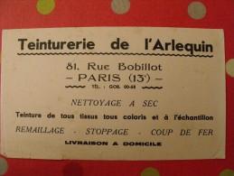 Buvard Teinturerie De L'arlequin. Paris. Vers 1950 - Blotters