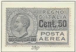 Italia - 1927 - Nuovo/new MH - Posta Aerea - Sass. N. 8 - Nuovi