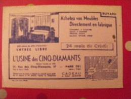Buvard meubles l'usine des cinq-diamants. paris. vers 1950