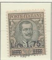 Italia - 1923/27 - Nuovo/new MH - Sovrastampati - Sass. N. 182 - 1900-44 Vittorio Emanuele III