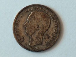 GREECE GRECE 1 DRACHMA DRACHME 1873 A SILVER ARGENT - Grèce
