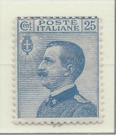 Italia - 1908 - Nuovo/new MH - Vittorio Emanuele III - Sass. N. 83 - 1900-44 Vittorio Emanuele III