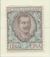 Italia - 1901 - Nuovo/new MH - Floreale - Sass. N. 77 - 1900-44 Vittorio Emanuele III