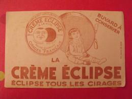 Buvard Cirage La Crème éclipse. Vers 1950 - Buvards, Protège-cahiers Illustrés