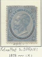 Italia - 1865 - Nuovo/new MH - Vittorio Emanuele II - Sass. N. 25 - Neufs