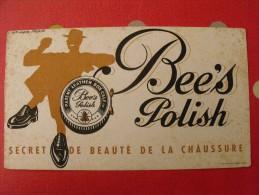 Buvard Cirage Bee's Polish. Paulin. Vers 1950 - Buvards, Protège-cahiers Illustrés