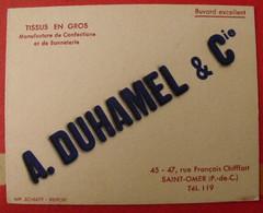 Buvard A. Duhamet & Cie. Tissus En Gros. Saint Omer (pas De Calais). Vers 1950 - Buvards, Protège-cahiers Illustrés
