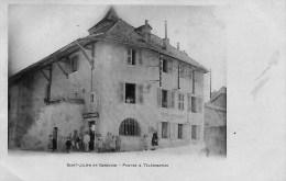 74 SAINT JULIEN EN GENEVOIS  LA POSTE  TELEGRAPHES    LE FACTEUR   LE POSTIER   ET HABITANTS - Saint-Julien-en-Genevois