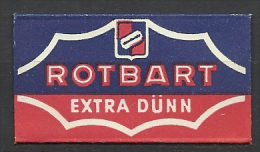 Germany,Rotbart Extra Dünn,´60s.-´70s.(?) - Lames De Rasoir
