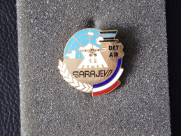 "Insignes Militaire ""SARAJEVO - 12 DET AIR "" -  Military Badges - RARE - Armée De Terre"
