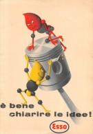 """03980 """"ESSO - E´ BENE CHIARIRE LE IDEE! -  ESSO CARBURANTI E LUBRIFICANTI"""" FOGLIETTO PUBBLICITARIO  ORIGINALE. - Pubblicitari"""
