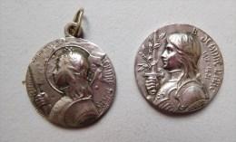 """Lot De 2 Medailles Religieuses """" Jeanne D'arc """" - Religion & Esotericism"""