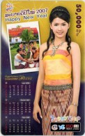 Mobilecard Laos - Kalender,calendar 2007 - Nice Lady,Frau,woman (5) - Laos