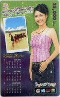 Mobilecard Laos - Kalender,calendar 2007 - Nice Lady,Frau,woman (7) - Laos