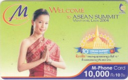 Mobilecard Laos - Asean Summit - Vientiane  - Nice Lady,Frau,woman - Laos