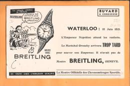 BUVARD: Montre Breitling Genève, Waterloo, Napoléon - Buvards, Protège-cahiers Illustrés