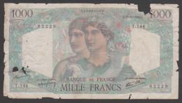France,1945,1000 Francs,PR. - 1 000 F 1945-1950 ''Minerve Et Hercule''