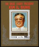 KOREA Nord 1990 - 78. Geburtstag Kim IL Sung - Block 252 - Korea (Nord-)
