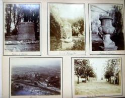 13 BOUCHES DU RHONE NEUF PHOTOS ORIGINALES  PARC DE FABREGOULES ALLAUCH CHATEAU ALBERTAS  PLAN DE CUGNES  ANCENIS - Lieux