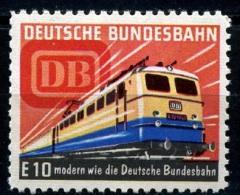 Werbemarke  Der Deutschen Bundesbahn  E-Lok E10  ** / MNH - Treni