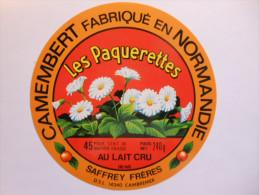 A-14286d - étiquette De Fromage Camembert LES PAQUERETTES Saffrey Frères à SAINT LOUP DE FRIBOIS - Calvados 14BF - Fromage