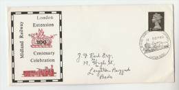 1968 Luton GB MILDLAND RAILWAY London EXTENSION CENTENARY EVENT COVER Steam Train Stamps - Trains