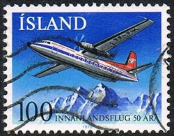 Iceland SG564 1978 50th Anniversary Of Domestic Flights 100k Good/fine Used [10/26124/6D] - Used Stamps
