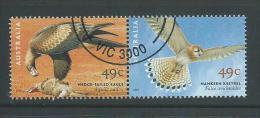 Australia 2001 Eagle & Kestrel Bird Of Prey Joined Pair VFU Melbourne CTO - 2000-09 Elizabeth II