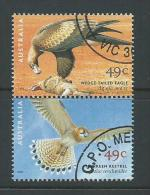 Australia 2001 Eagle & Kestrel Bird Of Prey Joined Pair VFU Melbourne CTO - Oblitérés